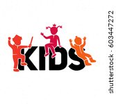sign children play on the word | Shutterstock .eps vector #603447272