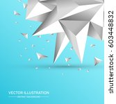 3d low polygon geometry... | Shutterstock .eps vector #603448832