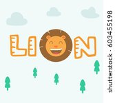 cute smiling happy lion  king... | Shutterstock .eps vector #603455198