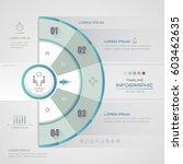 infographics circle design... | Shutterstock .eps vector #603462635
