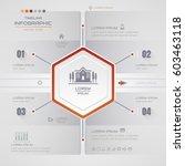 infographics hexagon design...   Shutterstock .eps vector #603463118