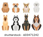 funny cartoon dog character... | Shutterstock .eps vector #603471242