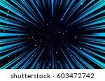 hyper speed warp sun rays or...   Shutterstock .eps vector #603472742
