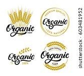 set of organic hand written... | Shutterstock .eps vector #603481952
