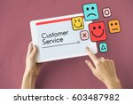 customer evaluation feedback... | Shutterstock . vector #603487982