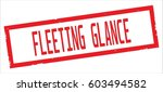fleeting glance text  on red... | Shutterstock . vector #603494582