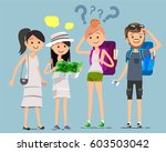 traveling to meet different... | Shutterstock .eps vector #603503042