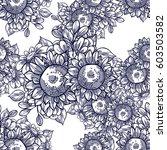 abstract elegance seamless... | Shutterstock . vector #603503582