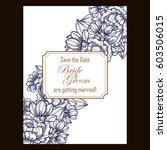 romantic invitation. wedding ...   Shutterstock .eps vector #603506015