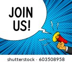 join us internet banner speech... | Shutterstock .eps vector #603508958