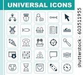 set of 25 universal editable... | Shutterstock .eps vector #603511955