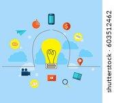 digital marketing and social... | Shutterstock .eps vector #603512462