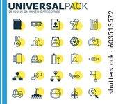 set of 25 universal editable...   Shutterstock .eps vector #603513572