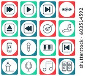 set of 16 audio icons. includes ...