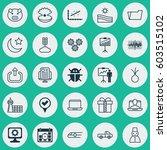 set of 25 universal editable... | Shutterstock .eps vector #603515102