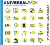 set of 25 universal editable... | Shutterstock .eps vector #603518666