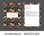 vintage flower background for... | Shutterstock .eps vector #603521162