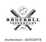 emblem of baseball tournament.... | Shutterstock .eps vector #603536978