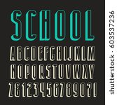 decorative sanserif font with... | Shutterstock .eps vector #603537236