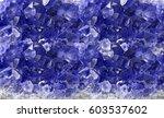 macro photo of blue sapphire... | Shutterstock . vector #603537602