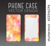 case for mobile phone with... | Shutterstock .eps vector #603546296