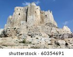 Old Stone Castle Masyaf On The...
