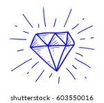 diamond doodle | Shutterstock .eps vector #603550016
