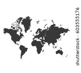 blank grey similar world map... | Shutterstock .eps vector #603555176