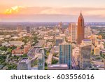 Skyline of atlanta city at...