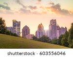 midtown atlanta skyline from... | Shutterstock . vector #603556046
