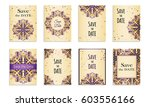 save the date.set of postcards...   Shutterstock .eps vector #603556166