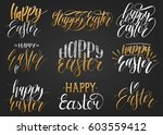 happy easter handwritten... | Shutterstock .eps vector #603559412