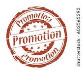 promotion grunge stamp. | Shutterstock . vector #603565292