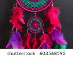 colorful dreamcatcher made of...   Shutterstock . vector #603568592