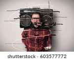 shout  the young guy in the... | Shutterstock . vector #603577772