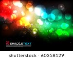vector colorful blurry lights