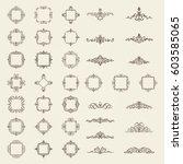 huge rosette wicker border... | Shutterstock .eps vector #603585065