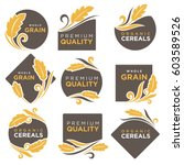 cereal products vector logo... | Shutterstock .eps vector #603589526