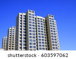 high rise building under the... | Shutterstock . vector #603597062