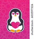 emoji  vector sticker with... | Shutterstock .eps vector #603597326