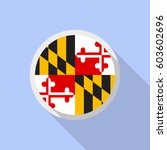 maryland flag in circle shape.... | Shutterstock .eps vector #603602696