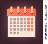 vector isolated calendar icon...