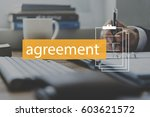deal agreement commitment... | Shutterstock . vector #603621572