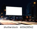 billboard mockup outdoors ... | Shutterstock . vector #603628562