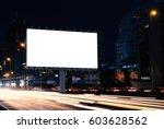 billboard mockup outdoors ... | Shutterstock . vector #603628562