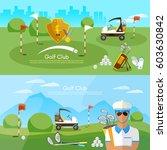 golf club banner sports... | Shutterstock .eps vector #603630842