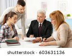 family consulting notary public ... | Shutterstock . vector #603631136