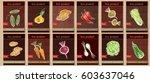 vegetable seeds packets... | Shutterstock .eps vector #603637046
