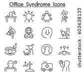 office syndrome   staff health... | Shutterstock .eps vector #603638135