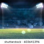 stadium in lights and flashes... | Shutterstock . vector #603641396
